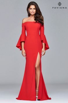 cce723917fc Be the center of attention a very trendy prom dress. FAVIANA S 8002 is a