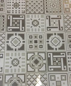 Neutral mosaics from Appiani---tiles, but would certainly work for x stitch!