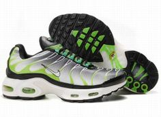 huge discount bc510 ab70a Nike Air Max TN Homme Chaussures De Course Blanc Noir Vert