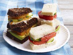 Tomato Tea Sandwiches Recipe : Food Network Kitchens : Food Network