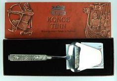 KONGE TINN ROYAL PEWTER CHEESE SLICER , NORGE NORWAY   don't have box 89