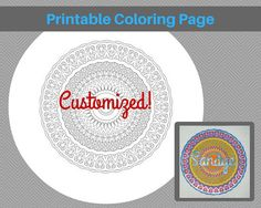 Custom Coloring Page Customized with Name or by StitchingWithRetta