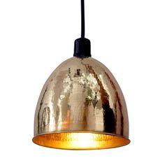 Gumbaz Pendant Lamp In Brass.