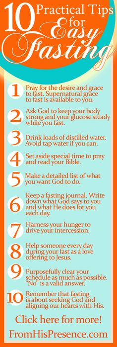 Today's Prayer Directive and 10 Practical Tips for Easy Fasting - From His Presence®