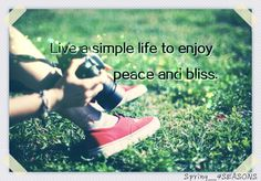 Simple is good...