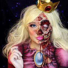 'Zombie SFX Princess Peach' by @jordanhanz #hanzoween| Be Inspirational ❥|Mz. Manerz: Being well dressed is a beautiful form of confidence, happiness & politeness