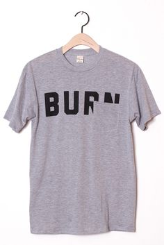 Burn Pocket Tee Grey