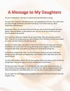 Poem Letter From A Mother To A Daughter  Inspirational Quotes