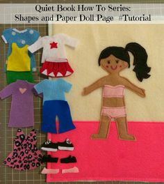 First Time Mom and Losing It: Quiet Book How To Series: Shapes and Paper Doll Page #Tutorial