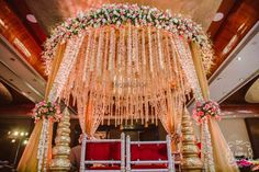 Looking for Floral mandap decor? Browse of latest bridal photos, lehenga & jewelry designs, decor ideas, etc. on WedMeGood Gallery. Online Wedding Planner, Wedding Planning Websites, Wedding Mandap, Wedding Venue Decorations, Free Wedding, Plan Your Wedding, Wedding Ideas, Indoor Wedding, Best Wedding Photographers