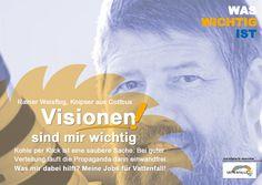 Visionen, Werbekampagnen, Fotografen, Tagebau, CO2, Braunkohle, Energiewende, Vattenfall, WasWichtigIst