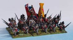 44th Foot Line square painted from Tobias Kirchner (Perry Miniatures)