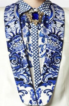The Terrier and Lobster: Roberto Cavalli Resort 2013 Baroque Porcelain-Inspired Prints