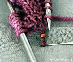Beads on Knitting Project Tutorial