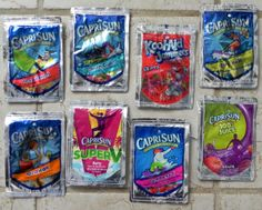 Capri Sun juice drink pouch Change purse by bgreenbuyused Capri Sun Juice 423a8ee45ab6d