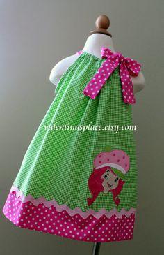 Super Cute Strawberry Shortcake pillowcase dress on Etsy, $30.00