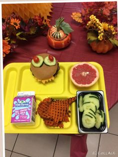 Happy Meals at Coppell ISD (TX) using produce of the month. Cafeteria Food, Merchandising Ideas, Food Service, Toddlers, Bear, School, Happy, Desserts, Young Children