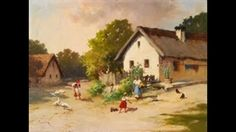 Neogrády Antal (1861-1942) magyar festő The Past, Painting, Hungary, Google, Style, Garden, Cities, Frames, Facades