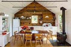 Sometimes bigger really isn't better. That is certainly the case in this 540-square-foot home in Portland, OR that houses a family of four.   It helps that the tiny house, located north of Portland on Sauvie Island, was intended to be a summer home...