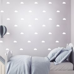Pom le Bonhomme White Clouds Wall Stickers - Wall Stickers - Home & Sleep