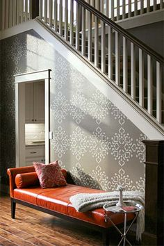 thisoldhouse.com | Stencil On a Wallpaper Look
