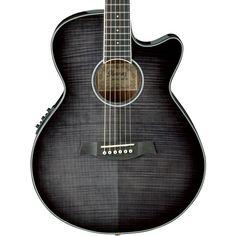 Ibanez AEG24ii thinline Electro Acoustic in Dark Grey Burst