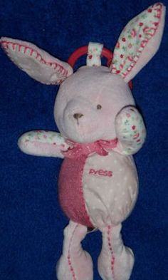 Searching – Carter's? SMALL PINK Beanie RABBIT with FLOWER PRINT STITCHED EARS