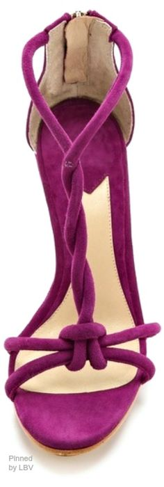 ~Brian Atwood Priscilla Twist Strap Wedge Sandals | The House of Beccaria#