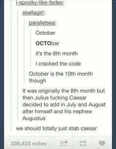 We should just stab Caesar...
