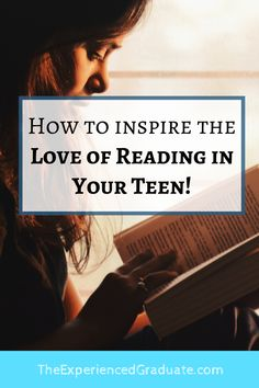 "If your teen is like many teens in high school, having a love of reading is not too high on their list of priorities. Most high school students are forced to read hundreds of pages from textbooks every week. After reading page after page of ""boring"" text, why would they be inspired to read anything for ""fun""? Find out 5 ways you can inspire the love of reading in your teen! parenting teens tips, high school help, high school reading tips High School Tutoring, High School Reading, In High School, High School Students, Middle School, Essay Writing, Writing A Book, Essay Tips, Find A Book"