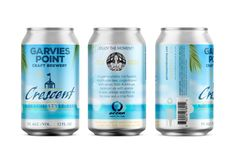 Garvies Point Craft Brewery – Crescent Kolsch – Brand ID & Packaging ©2020 Island Crafts, New Growth, Marketing And Advertising, Craft Beer, Brewery, Vodka Bottle, Ale, Packaging, Branding