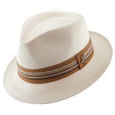 c16fcc4385c77 Santana Men s Shantung Salvador Pinch Front Fedora Hat - Natural