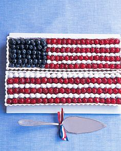I'm making this for a 4th of July get together!: American Flag Tart - Martha Stewart Recipes