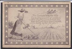 Patriotic-Farm-Farming-The Comrade With The Hoe-Antique Postcard   eBay