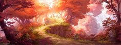 End of the path. I wanted to paint a forest landscape, and it sort of became an continuation of an old speedpaint of mine Fun to see how my painting style have changed over the years!