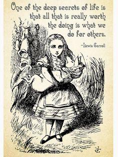 Alice in Wonderland Quote – Deep Secrets of Life – Lewis Carroll Quote – 0116 Poster Alice im Wunderland-Zitat – tiefe Geheimnisse des Lebens – Lewis Carroll-Zitat – 0116 Plakat Alice Quotes, Disney Quotes, Book Quotes, Me Quotes, Funny Quotes, Qoutes, Poster Quotes, Lewis Carroll Zitate, Lewis Carroll Quotes