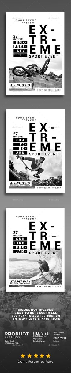 Extreme Sport Event Flyer