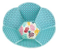 Reversible Fabric Bowl - Anita's Embroidery Workshop - Contact your Local Dealer to Sign Up!