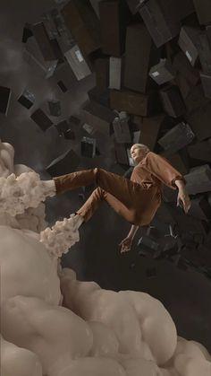 "Hyper Trophies – ""QRQQQQZZZZCKQQQ"" by ZEITGUISED. Moving still portrait sculpture."