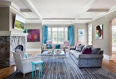 Living Spaces - contemporary - Family Room - New York - Clean Design
