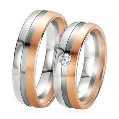 Le Duo Eleonor & Ulrica est très original grâce à l'association de 3 couleurs, l'or blanc, rose et noir. Un modèle unique qui est orné d'un diamant blanc sur l'alliance femme. http://www.zeina-alliances.com/alliance-duo/3509-duo-eleonor-ulrica.html