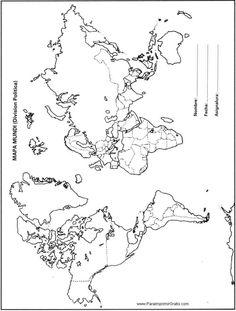 Mapa Mundial Esquematico Para Imprimir
