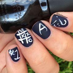 nice Back To School Nail Art!
