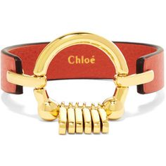 Chloé Leather and gold-tone bracelet