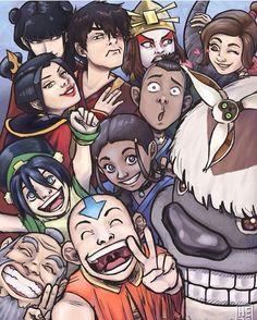 Avatar group selfie