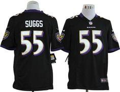 Terrell Suggs Jersey: Nike Mens Game #55 Baltimore Ravens Jersey in black