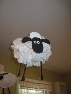 Shaun the Sheep Party decorations -- I love this, but with 3 days til the party, I'm running out of time.