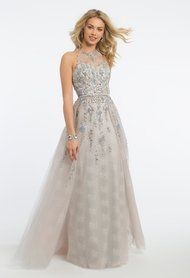 Glitter Flower Beaded Overskirt Dress
