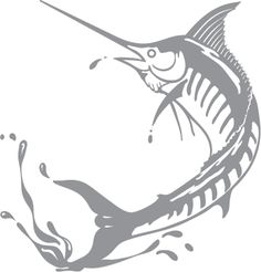 Glass etching stencil of Swordfish . In category: Fish & Marine