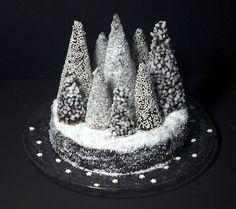 Cette année, j'ai revisité la traditionnelle bûche aux marrons et chocolat. J'avais repéré un génial tutoriel sur The Cake Blog pour faire des sapins de Noël avec des cônes de glace recouverts de chocolat, noix de coco, sucre... Ne restait plus qu'à laisser parler mon imagination et la magie de Noël... Et waouh, c'est encore plus beau que ce que j'avais en tête: Une forêt enchantée digne des plus beaux contes de Noël!